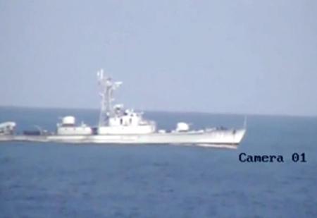 Tàu tuần tiễu tấn công nhanh 753 TQ tham gia bảo vệ giàn khoan