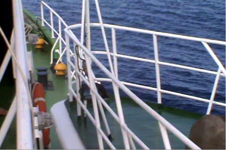Tàu Hải cảnh 44044 Trung Quốc đâm thẳng  vào mạn phải tàu Cảnh sát biển Việt Nam 4033