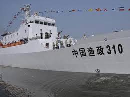 Tàu ngư chính của Trung Quốc (Ảnh: TÂN HOA XÃ)