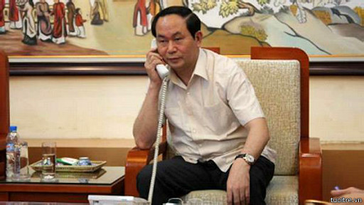 Ông Trần Đại Quang đề nghị phía Trung Quốc 'rút ngay' giàn khoan HD-981 ra khỏi Hoàng Sa.