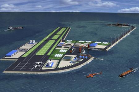 Một mẫu thiết kế đảo nhân tạo của Trung Quốc đăng trên trang web của NDRI