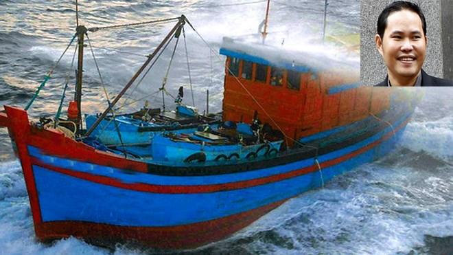 Tàu cá Việt Nam bị vòi rồng của tàu Trung Quốc tấn công. ảnh: T.L