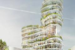 Mô hình Thành Phố Xanh (Green Living City). Một sự xếp tầng cân bằng giữa không gian đô thị và thiên nhiên.