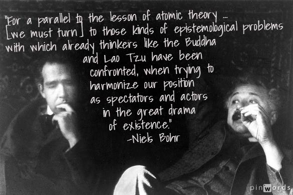 Niels Bohr, một nhà tiên phong của Vật lý lượng tử, và Albert Einstein, 1925.
