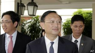 Ông Dương Khiết Trì tại Hà Nội ngày 17/6