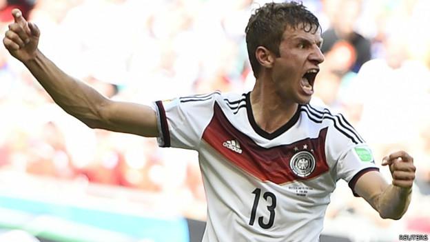 Thomas Muller là cầu thủ lập hat-trick đầu tiên trong mùa World Cup 2014