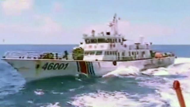 Tàu tuần duyên Trung Quốc chạm trán với tàu Việt Nam trên Biển Đông