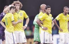 Brasil kết thúc trong thất vọng, Scolari vẫn chưa từ chức. Ảnh: AP/Getty Images