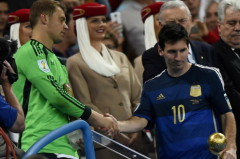 Messi bị cho là không xứng với Quả bóng vàng World Cup 2014. Ảnh: Reuters