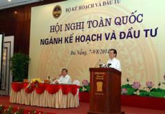 Thủ tướng Nguyễn Tấn Dũng phát biểu tại Hội nghị Ngành Kế hoạch và Đầu tư ở Đà Nẵng hôm 7/8/2014. Courtesy chinhphu.vn