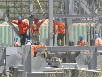 Một công trình xây dựng tại KCN Vũng Áng do nhà thầu Trung Quốc thi công. Courtesy photo.