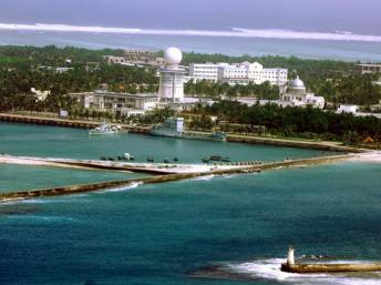 Khu vực hành chính Tam Sa, thuộc quần đảo Hoàng Sa mà Trung Quốc đã dùng vũ lực chiếm của Việt Nam vào năm 1974. CHINA OUT AFP PHOTO