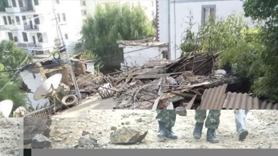 Lỗ Điện là nơi hứng chịu thiệt hại nặng nề nhất, với 296  người chết, theo Tân Hoa xã.Điện và truyền thông đã bị cắt đứt trên toàn khu vực bị thiên tai và 57.200 cư dân đang cần được sơ tán đến các khu vực an toàn, Tân Hoa xã cho biết.