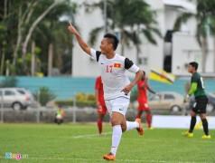 Tuấn Tài lập cú đúp cho tuyển U19 Việt Nam. Ảnh: Tùng Lê.