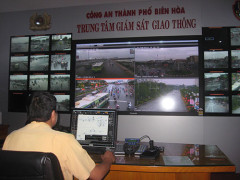 Hệ thống giám sát qua camera tại Đội CSGT TP Biên Hòa