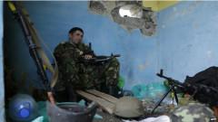 Một binh sỹ Ukraine trấn thủ ở một chốt canh