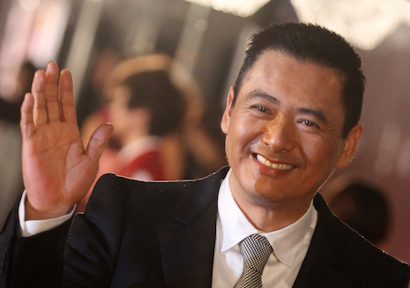 Actor Chow Yun-fat of Hong Kong poses on