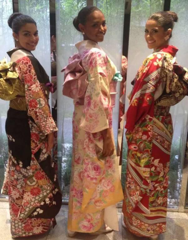 Đặng Thu Thảo xinh đẹp với Kimono tại Miss International 13