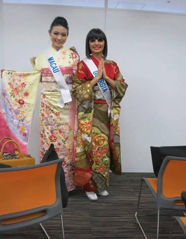Đặng Thu Thảo xinh đẹp với Kimono tại Miss International 14