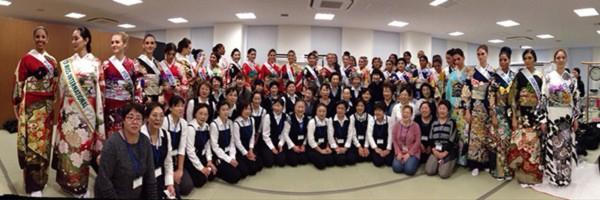 Đặng Thu Thảo xinh đẹp với Kimono tại Miss International 17