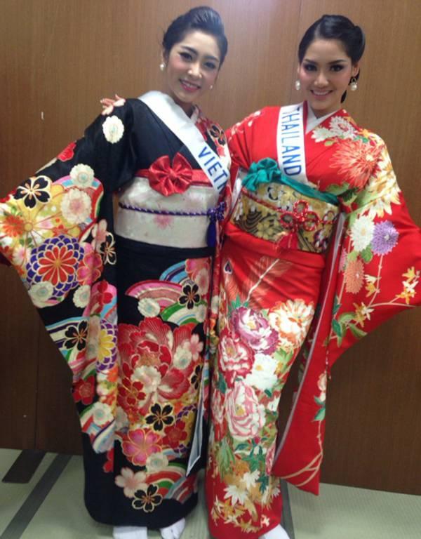 Đặng Thu Thảo xinh đẹp với Kimono tại Miss International 3