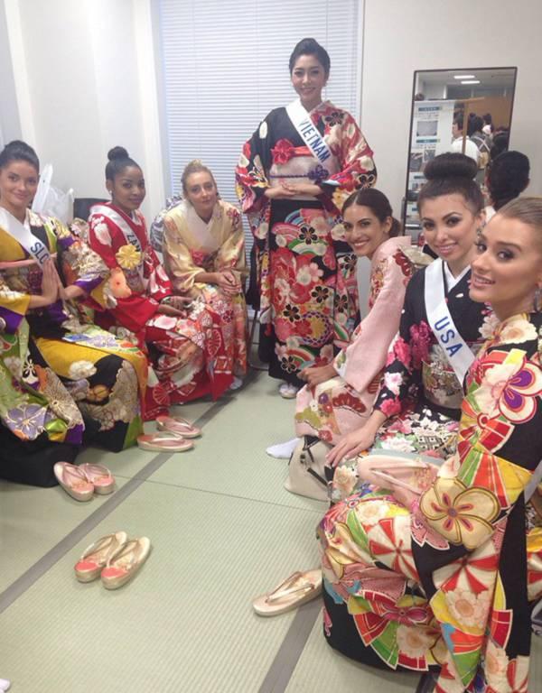 Đặng Thu Thảo xinh đẹp với Kimono tại Miss International 4