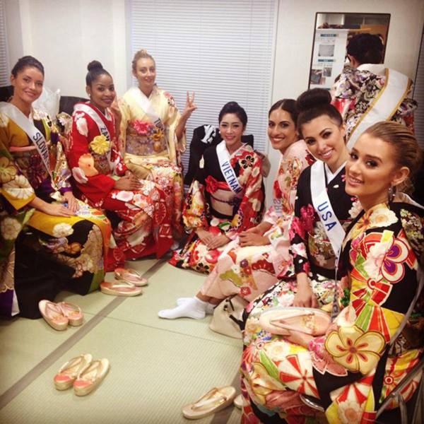 Đặng Thu Thảo xinh đẹp với Kimono tại Miss International 5