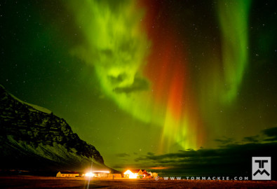 Angry Aurora Face, Hali, Iceland