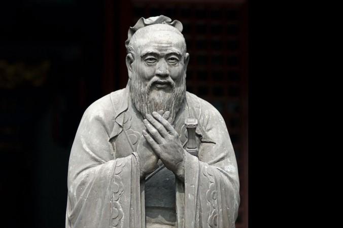 Tượng Đức Khổng Tử trong Văn Miếu, đền thờ Đức Khổng Tử ở Thượng Hải. (Ảnh: Sebastiaan de Stigter/iStock/Thinkstock.com)