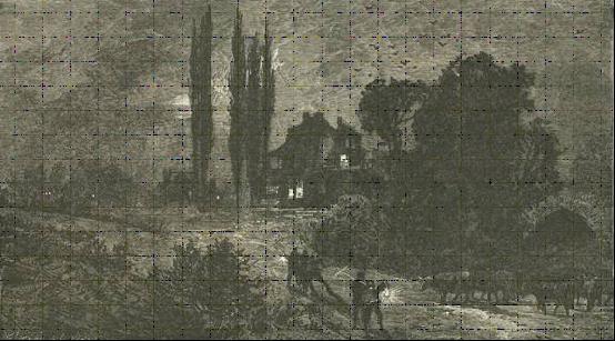 """Miêu tả của một họa sĩ quang cảnh vào giữa buổi sáng Ngày Đen tối (từ cuốn """"Lịch sử Đầu tiên của Chúng ta – 'Our First History,' Richard Devens, 1876)."""