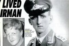 Ảnh trái: Carl Edon, ảnh phải: phi công Đức Quốc Xã Heinrich Richter. (The Weekly World News)