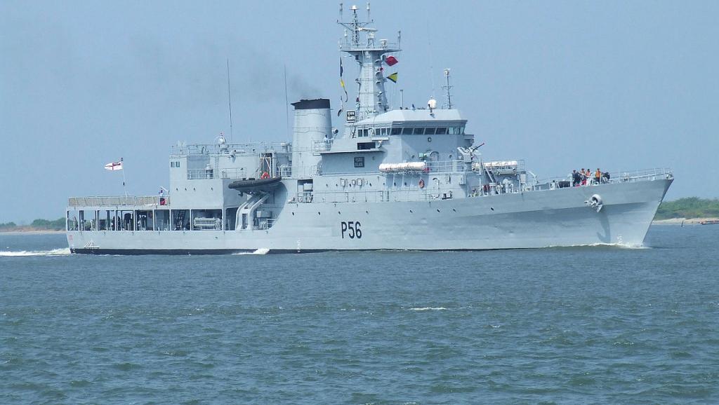 Tàu tuần dương lớp Sukanya của Ấn Độ (ảnh: wikipedia.org)