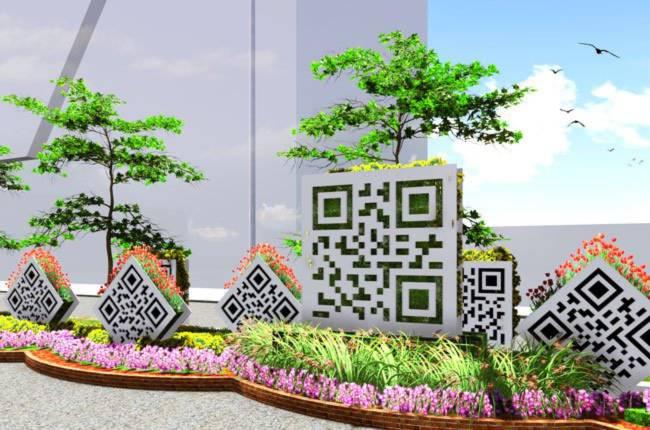 Bảng mã hiệu hoa - Ảnh:Saigontourist cung cấp