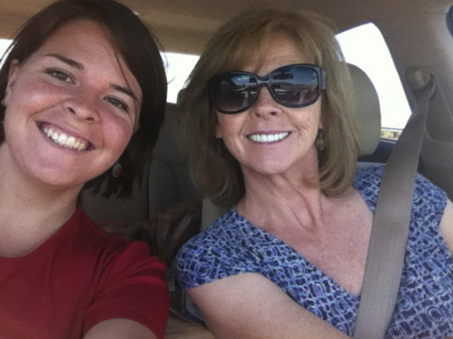 Kayla Mueller, 26, an American humanitarian worker from Prescott, Arizona is pictured with her mother Marsha Mueller in this undated handout photo