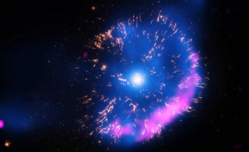 Ngôi sao phát nổ như pháo hoa