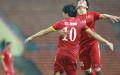 Chiến thắng đậm trước Olympic Macau giúp Việt Nam đi tiếp. Ảnh: Đức Đồng - vnexpress
