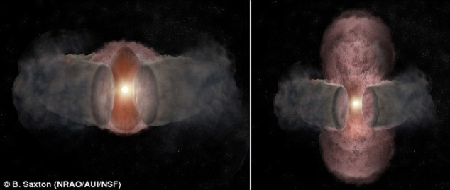 Sự hình thành của ngôi sao sáng gấp 300 lần Mặt Trời