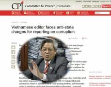 Ngày 12/5 CPJ  ra thông cáo báo chí kêu gọi Việt Nam bỏ các cáo trạng chống lại ông Kim Quốc Hoa