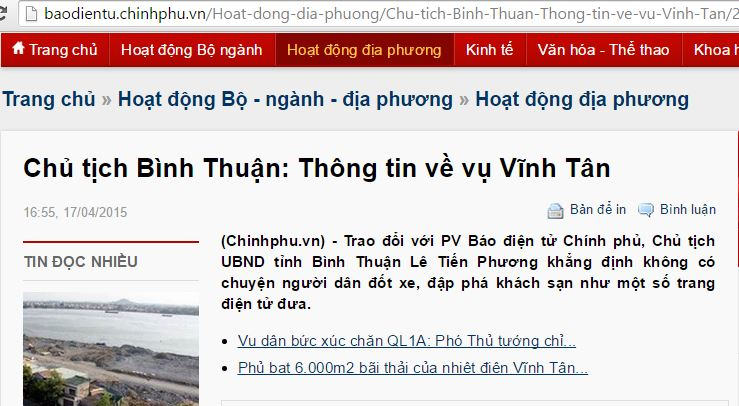 bao chinh phu