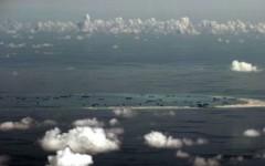 Hình ảnh một khu vực cải tạo trái phép của Trung Quốc trên Biển Đông. Ảnh Sydney Morning Herald
