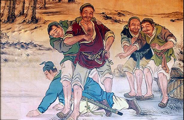 Điển tích Hàn Tín chịu nhục chui háng (Ảnh: internet)