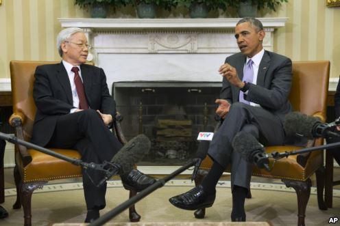 Tổng Bí thư Nguyễn Phú Trọng nói ông và Tổng thống Obama đã có cuộc trao đổi thẳng thắn.