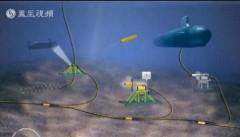 Mô hình đồ họa hoạt động của hệ thống giám sát tàu ngầm dưới đáy biển (Đài Phượng Hoàng-Hồng Kông)