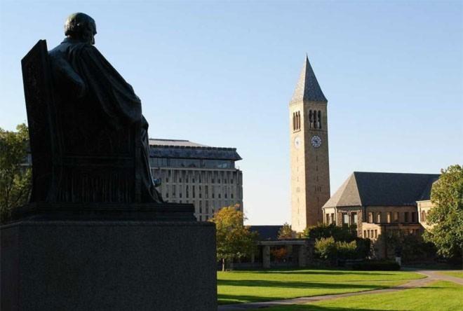 <b>10. Đại học Cornell</b><br><br>Quốc gia: Mỹ<br>Xếp hạng trong nước: 8<br>Xếp hạng về chất lượng giáo dục toàn cầu: 12<br>Xếp hạng về công việc của sinh viên sau tốt nghiệp: 18<br>Tổng điểm: 86,79/100<br><br><i>Nguồn: Center for World University Rankings</i>