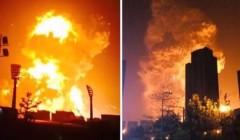 Hôm qua (12/8), một vụ nổ lớn đã làm rung chuyển thành phố Thiên Tân ở miền bắc Trung Quốc. (Nguồn: YouTube)