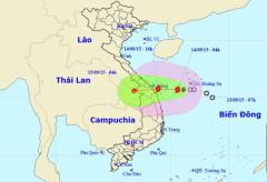Bản đồ dự báo vị trí và đường đi của bão số 3