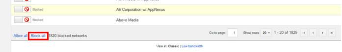 Chặn tất cả mạng quảng cáo đối tác Google Adsense