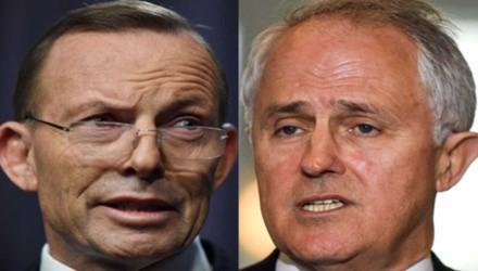 Ông Malcolm Turnbull (phải) hôm qua hạ bệ ông Tony Abbott và sẽ sớm nhậm chức Thủ tướng Úc. Ảnh: ABC.