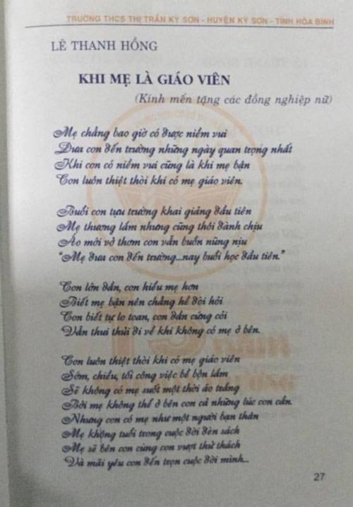 Bật khóc với bài thơ 'Khi mẹ là giáo viên' - 4