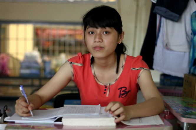 Tân sinh viên Phạm Thị Thu Quỳnh - Ảnh: Ngọc Hiển